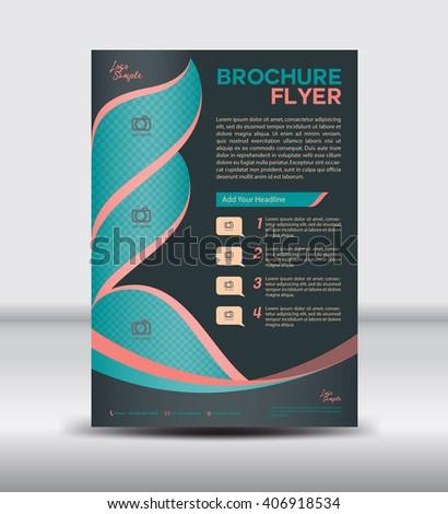 Black Brochure flyer template,newsletter design, Leaflet Layout,vector illustration, vintage cover, magazine ads - stock vector