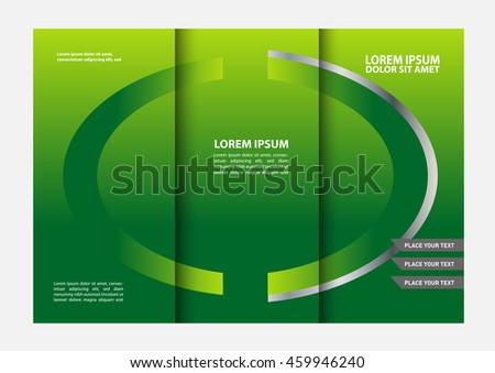 Black Brochure Tri Fold Template Stock Vector 459946240 Shutterstock