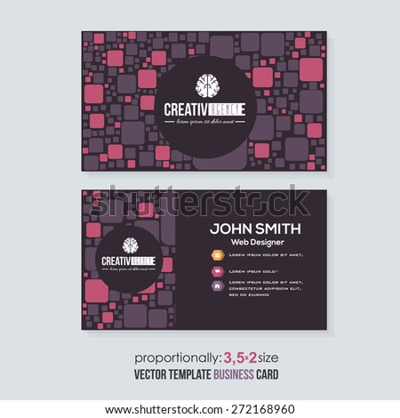 Black Business Card Design  - stock vector