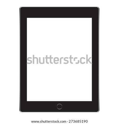 Black Business Tablet - stock vector