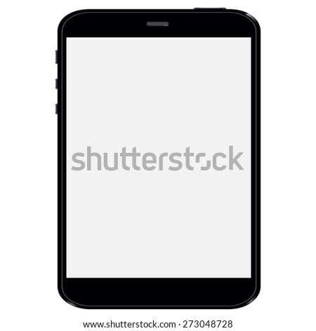 Black Business Tablet vector illustration - stock vector