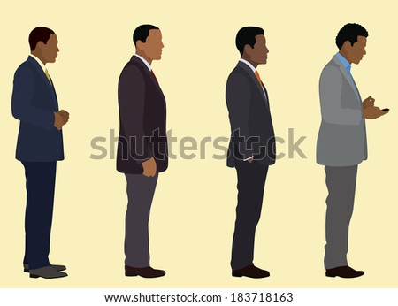 Black Businessmen from the Side