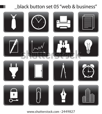 "black button set 05 ""web & business"""