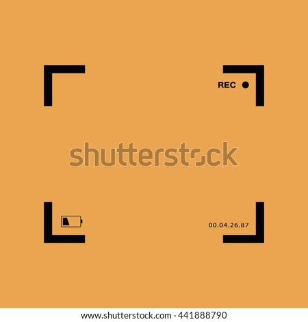 Black camera focus frame. Camera viewfinder vector icon - stock vector