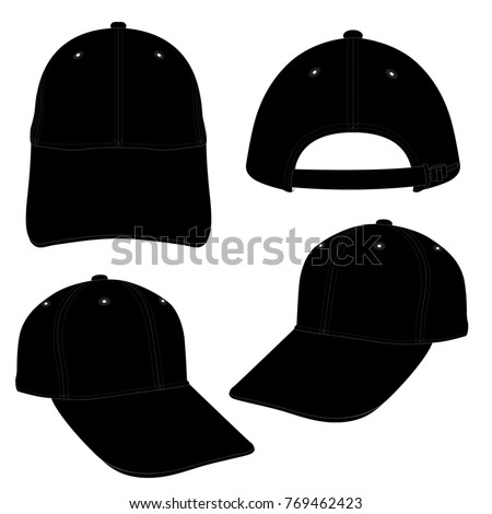 black cap template using fashion cloth stock vector 769462423 shutterstock. Black Bedroom Furniture Sets. Home Design Ideas