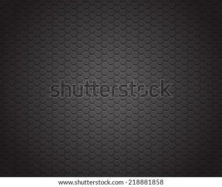 Black carbon texture background - stock vector