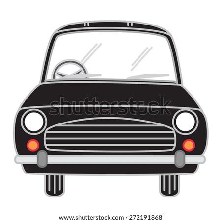 Black Cartoon Car Vector - stock vector