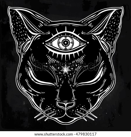 Cat Eyes Tattoo Psychedelic