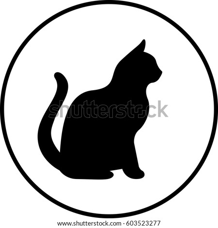 Black Cat Silhouette Of Good Luck