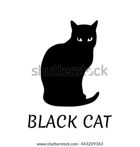 Black Cat Silhouette Vector Illustration Stock Vector 443209363 ...