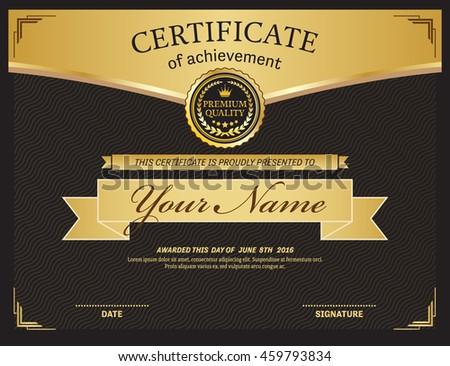 Certificate template vector illustration frame stock vector black certificate diploma template vector illustration design yadclub Image collections