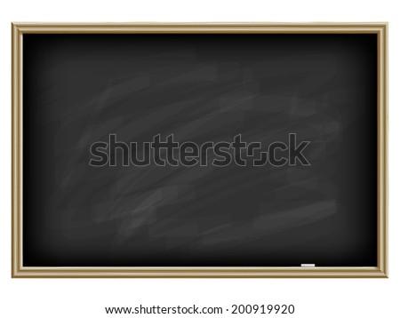 Black chalk board - stock vector