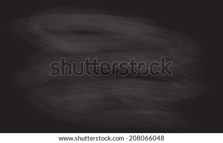 Black chalkboard background for school or menu drawing. Vector blackboard texture. - stock vector