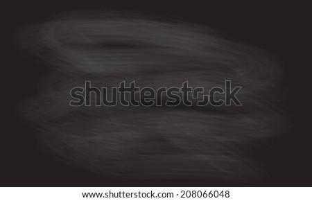 Black chalkboard background for school or menu drawing. Vector blackboard texture. - stock vector