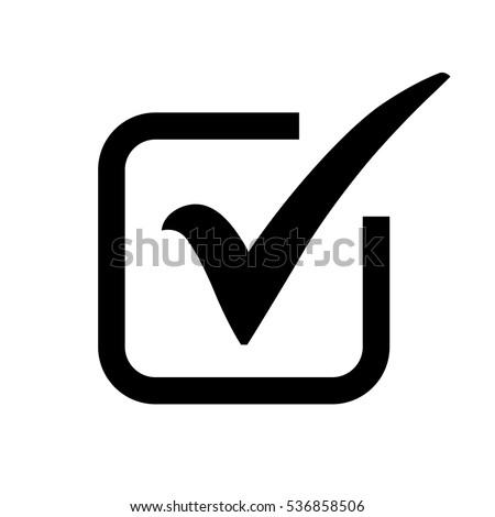 black check mark icon box tick stock photo photo vector rh shutterstock com check mark vector image check mark vector icon