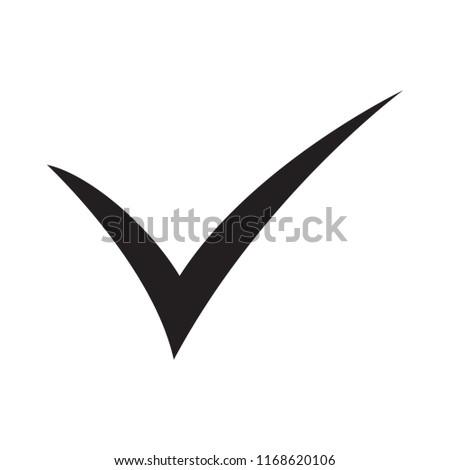 Black Check Mark Icon Tick Symbol Stock Vector Royalty Free