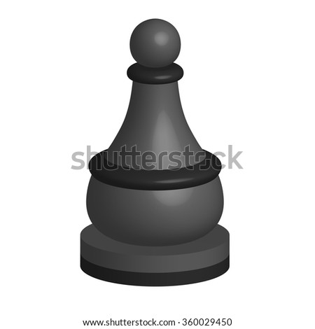 black chess piece pawn - stock vector