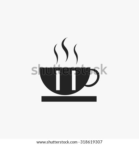 Black Coffee icons set. Vector Illustration eps10.