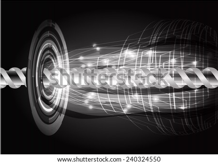 black color abstract technology background for for computer graphic website internet and business - stock vector