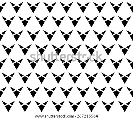 Black color minimal triangle and diamond geometric shape seamless pattern background vector.  - stock vector