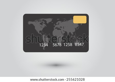 black credit card vector.