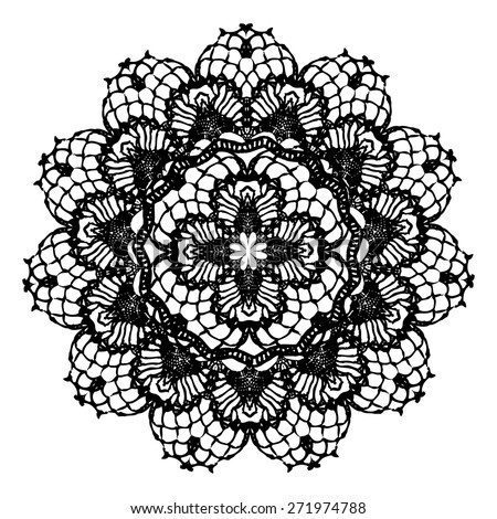 Crocheting Vector : Doily Stock Vectors & Vector Art