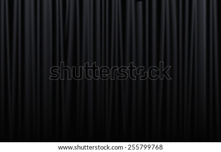 Black curtain from the theater with  - stock vector