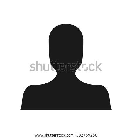 Black Dark Avatar Silhouette Default Anonymous Faceless Unisex Profile Picture Person Human Social Media User Icon