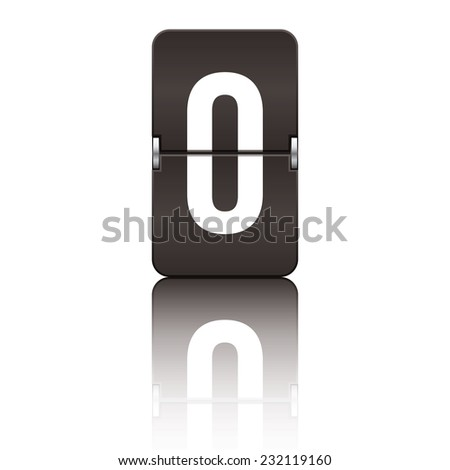 Black departure board letter o from a series of flipboard letters. - stock vector