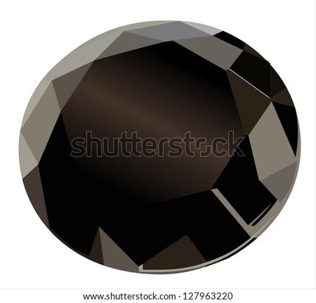 black diamond on a white background - stock vector