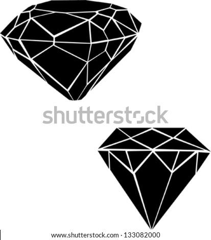 Black diamonds vector illustration - stock vector