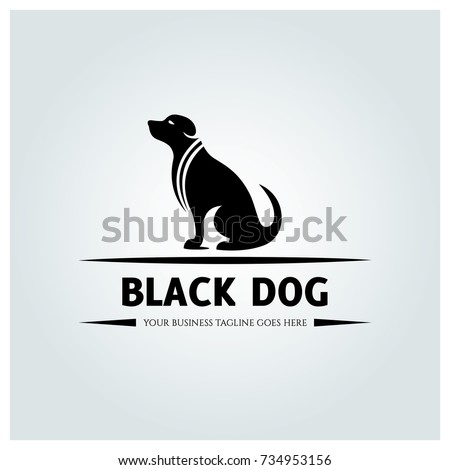 black dog logo design template vector stock vector royalty free