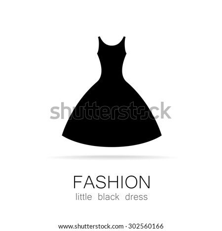 Black Dress Classic Fashion Template Logo Stock Vector 302560166 Shutterstock