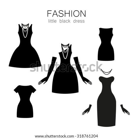 Accessories to black dress cartoon