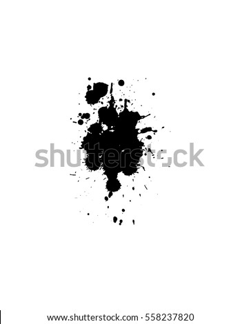 Black drops. Ink splashes. Vector illustration.
