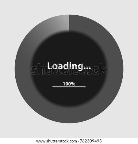 Black Dynamic Pie Chart Download Diagram Stock Vector 762309493