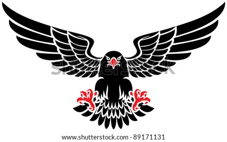 black eagle - stock vector