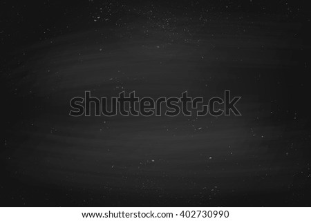 Black empty chalkboard background, surface and texture with copy space. Template for school or restaurant menu design. Vector Illustration - stock vector