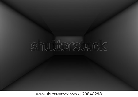 Black empty room interior.  Illustration for design - stock vector