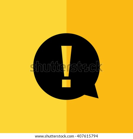 exclamation mark vector icon stock vector 390854209 shutterstock. Black Bedroom Furniture Sets. Home Design Ideas