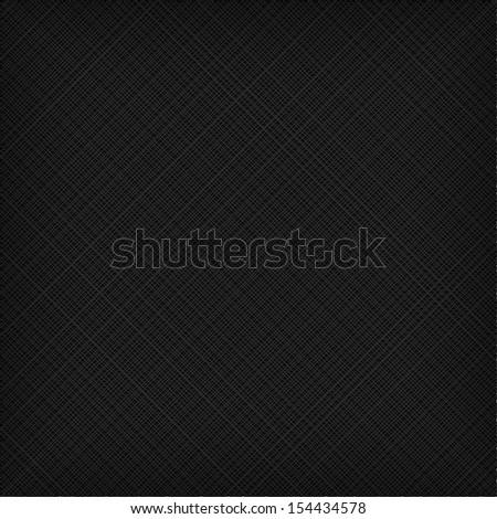 Black fabric texture - stock vector