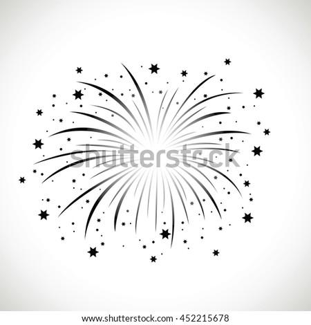 black firework - stock vector