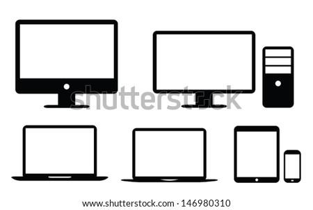 Black flat UI design element icon vector eps10 - stock vector