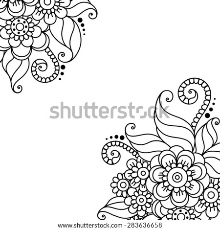 flower outline stock images royaltyfree images amp vectors