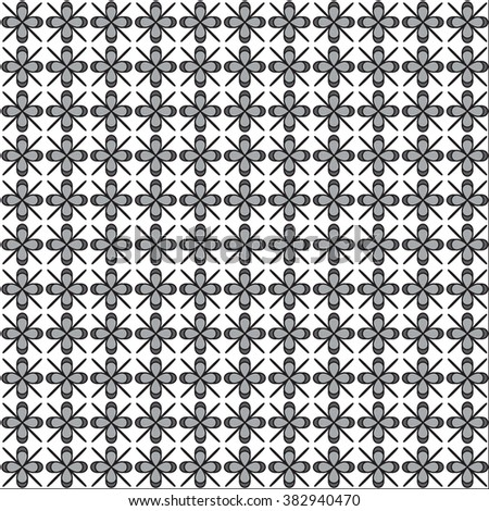 black flower  pattern stylish background. Vector