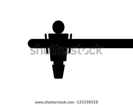 Black Foosball Icon - stock vector