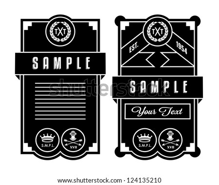 black frame with wreath, chaplet and helmet - stock vector
