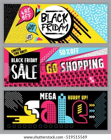 black friday flat design sale website stock vector 519515569 shutterstock. Black Bedroom Furniture Sets. Home Design Ideas