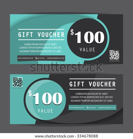 black friday gift voucher certificate coupon template, can be use for business shopping card, customer sale and promotion, layout, banner, web design. vector illustration - stock vector