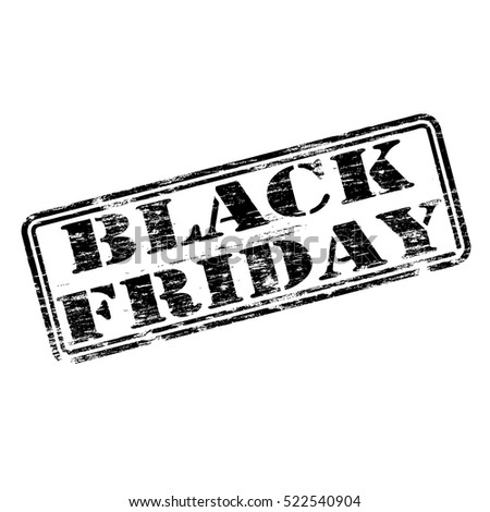 Black Friday grungy rubber stamp symbol vector illustration